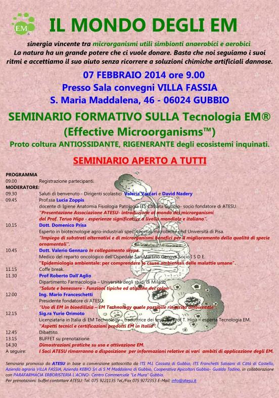 Conferenza a Gubbio, 7 febbraio 2014 ore 9.00
