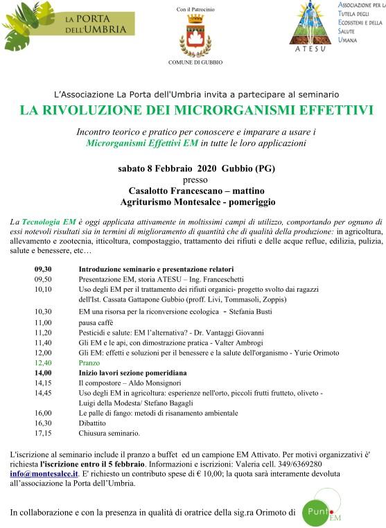 Incontro a Gubbio, sabato 8 febbraio