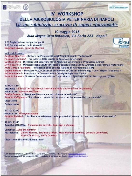 maggio 2018: workshop Università di Napoli su microbiologia