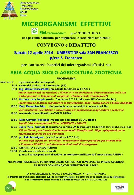 Convegno ad Umbertide, 12 aprile 2014